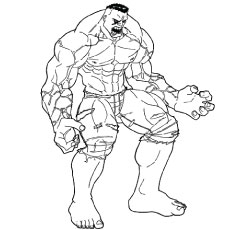 Hulk is Ready to Fight Coloring Pictures
