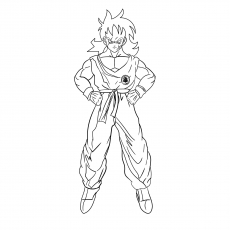 Coloring Pages of Yamcha Character