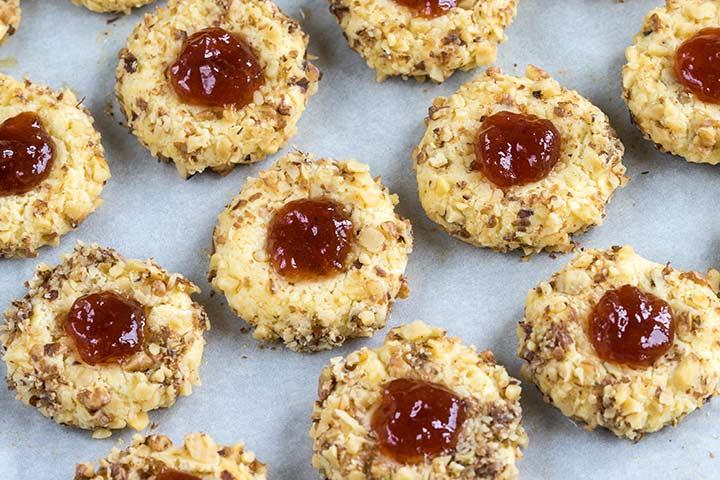 Thumbprint Cookies with Fruit Jam