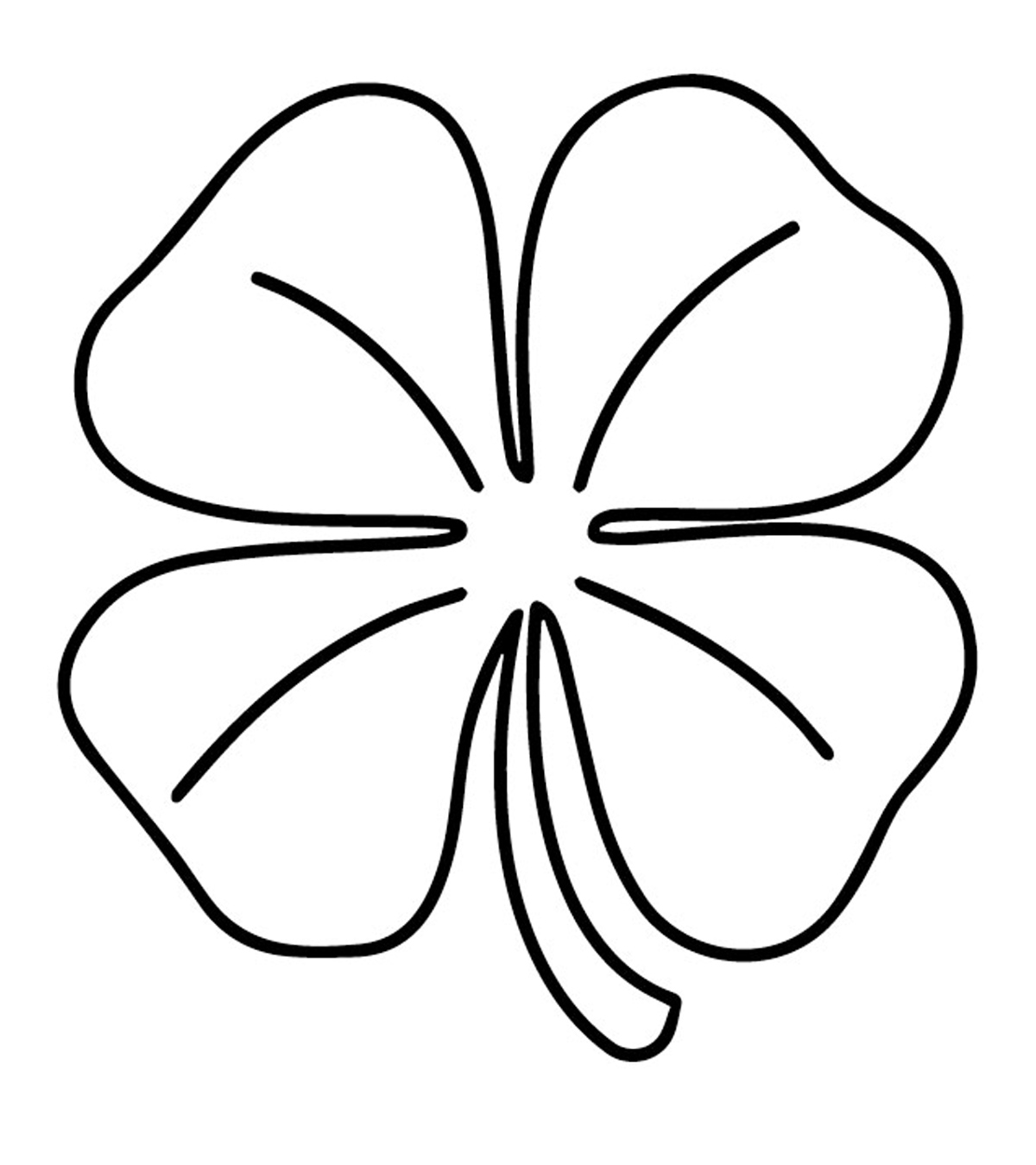It's just a graphic of Four Leaf Clover Printable Template with regard to cut out
