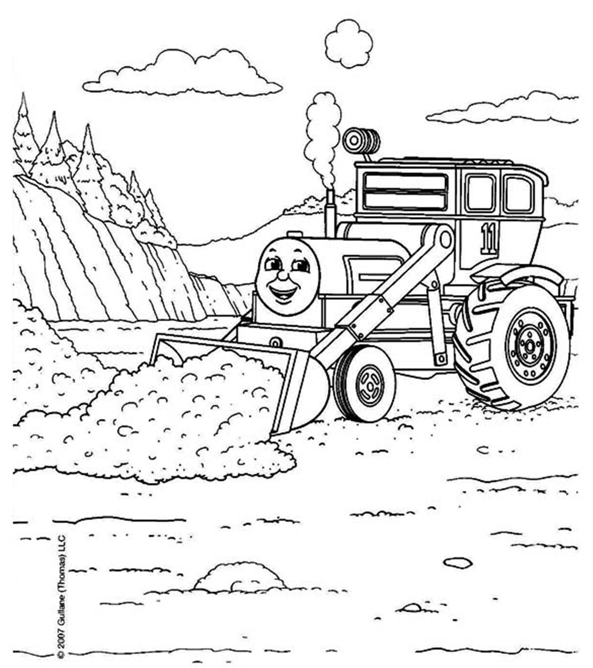 Thomas And Friends - Free printable Coloring pages for kids | 1350x1200