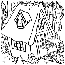 Goldilocks Entering the Bears Home Coloring Pages Free