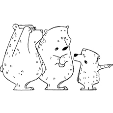 A Three Bears Discovery Coloring Page