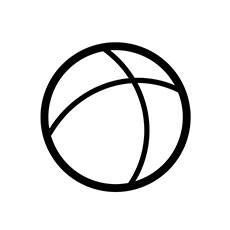 ball-icon-black-white-line
