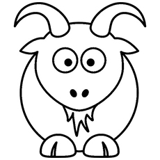 Cute Cartoon Goat Coloring Pages