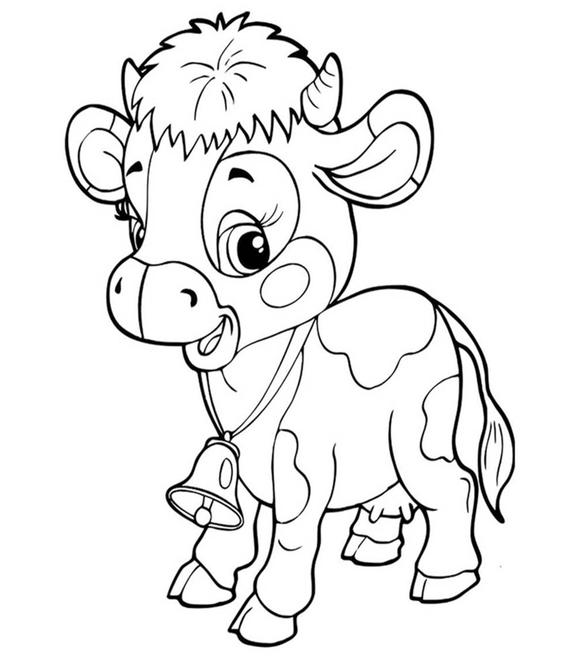 Free Printable Cow Coloring Pages For Toddlers – Pusat Hobi