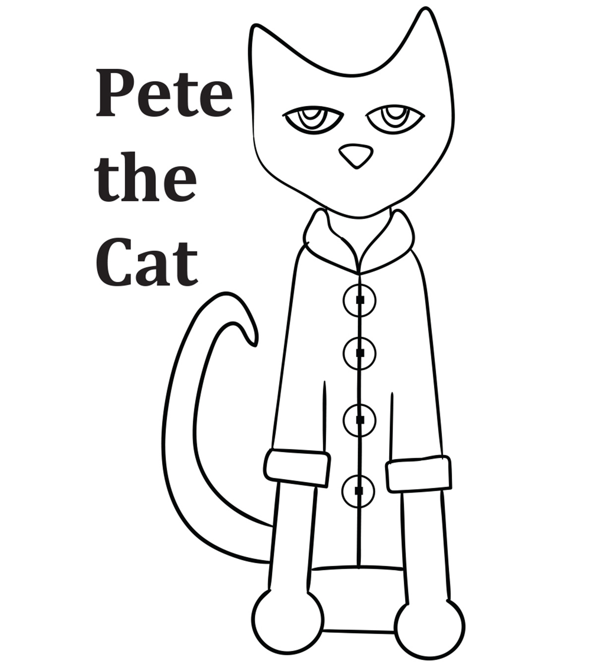 photograph regarding Pete the Cat Printable named Greatest 21 Cost-free Printable Pete The Cat Coloring Internet pages On line