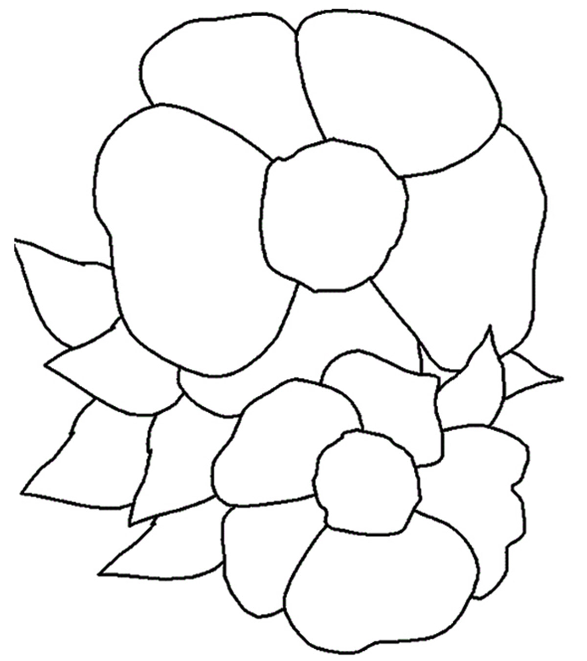 beautiful rose coloring pages for kids