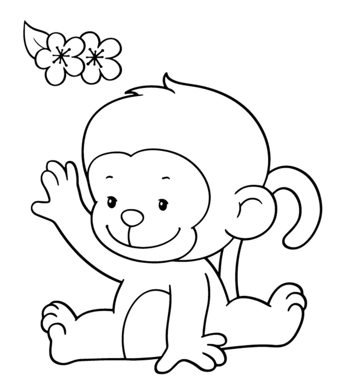 Coloring Page Cartoon Gorilla Stock Vector - Illustration of ... | 1350x1200