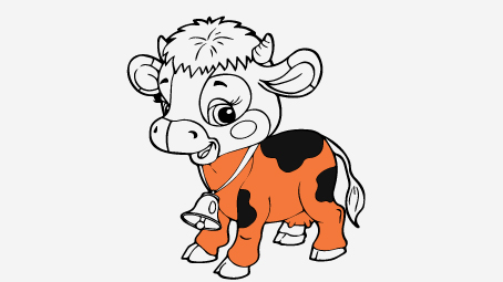 Top 15 Free Printable Cow Coloring Pages Online
