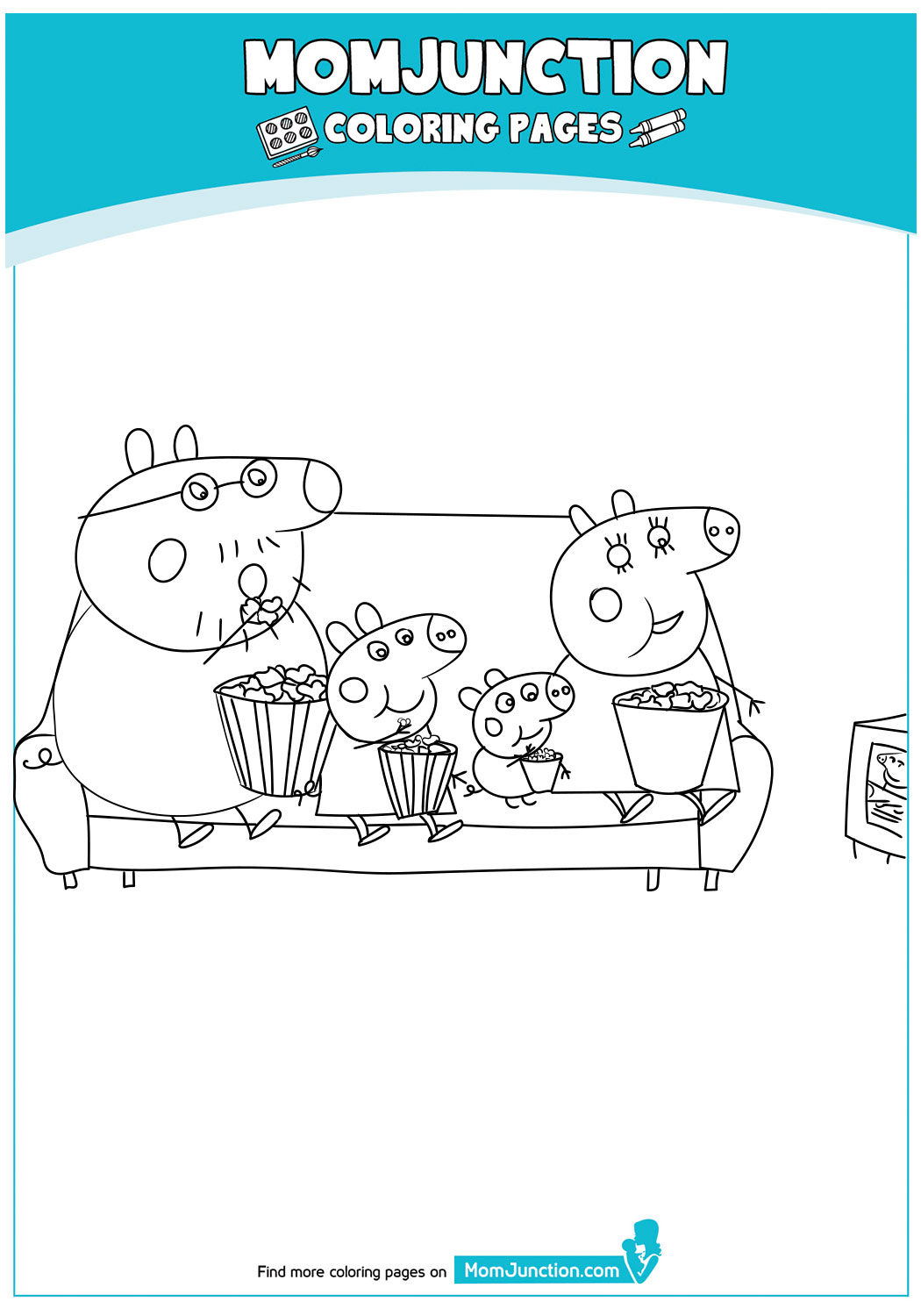Peppa-Family-Eating-Popcorn