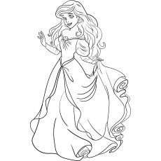 Top 35 Free Printable Princess Coloring Pages Online