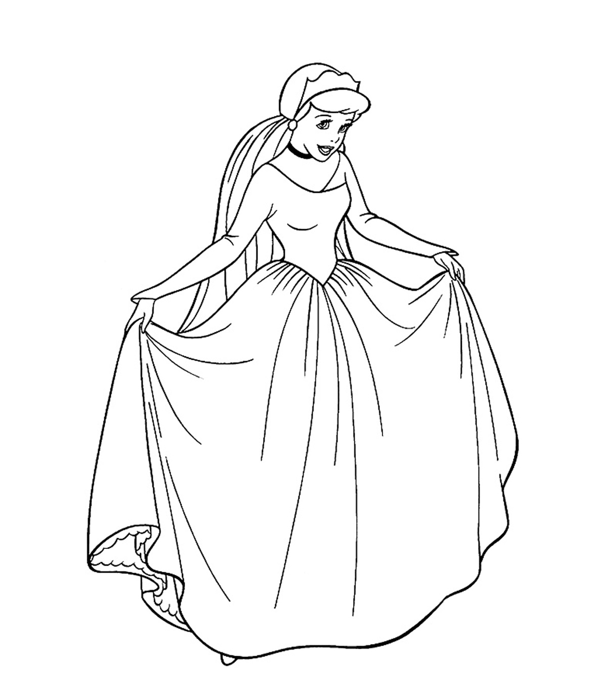 It is a picture of Princess Printable Coloring Pages throughout detailed