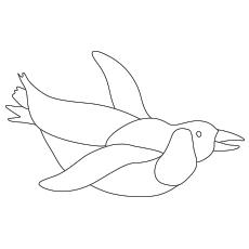 The-Cute-swimming-penguin