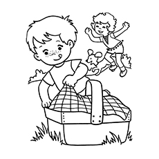 Boy Playing Activities in Spring