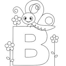 Alphabet Coloring Page for Preschool