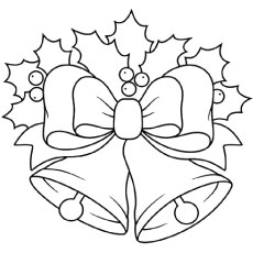 Attractive and Lovely Pair of Bells Coloring Pages