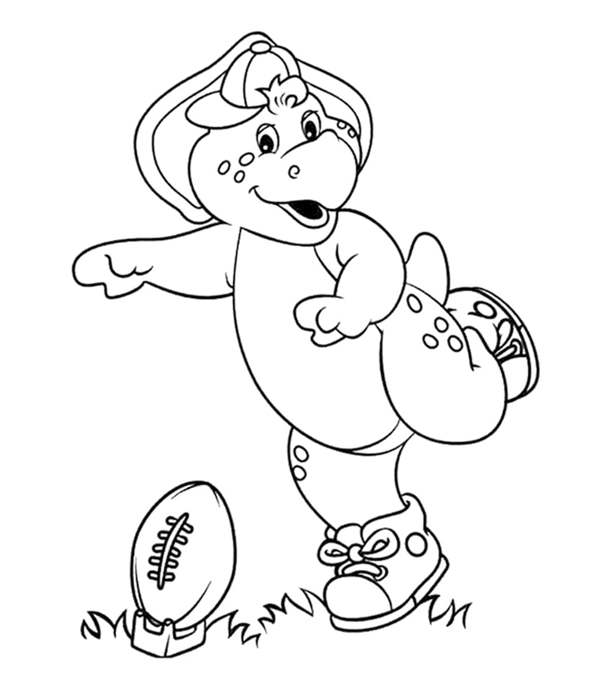 - Top 10 Free Printable Barney Coloring Pages Online