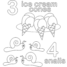 Coloring Page of Count for Preschooler