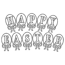Easter Greetings Coloring Pages