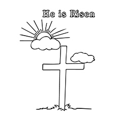 Jesus is Risen from Cross Coloring Pages