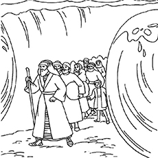 The-moses-parting-the-red-sea