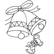 Mouse with Bells Coloring Pages to Print