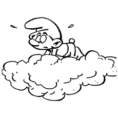 The-smurf-watching-from-the-clouds