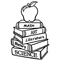 Different Subjects Books Coloring Pages