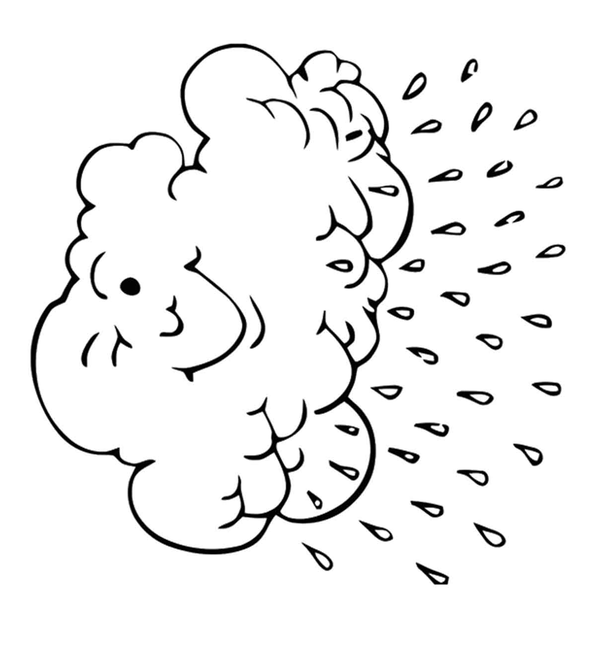 Cloud Coloring Pages - Free Printables - MomJunction