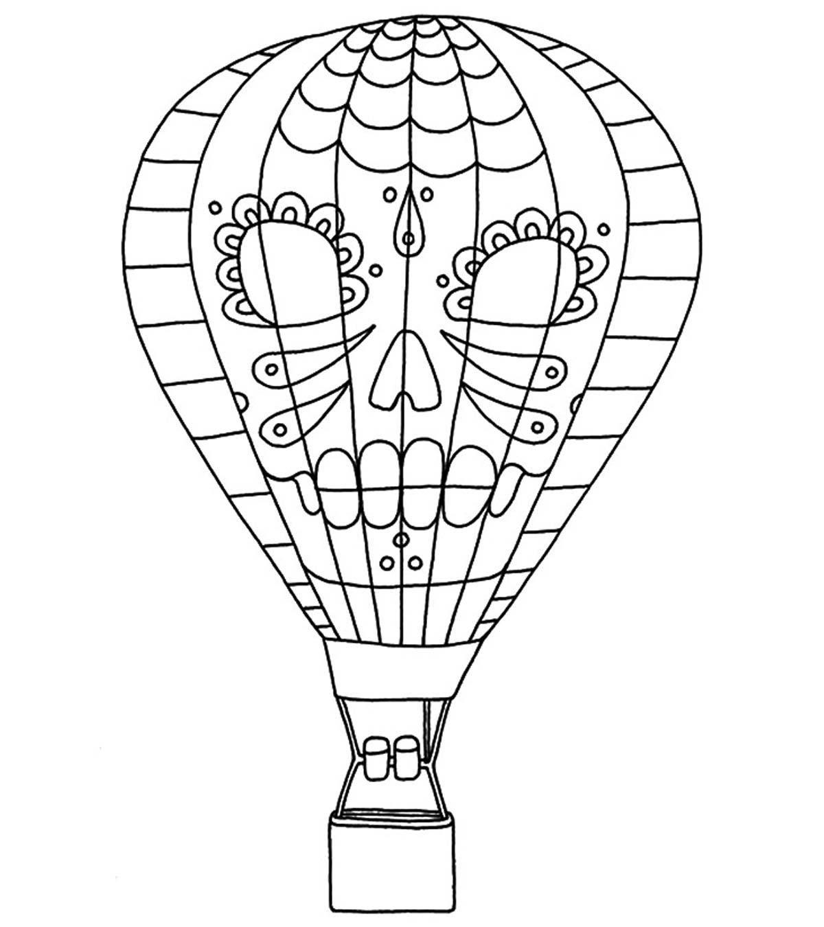 Beautiful Balloons for Birthday coloring page for kids, holiday ... | 1350x1200