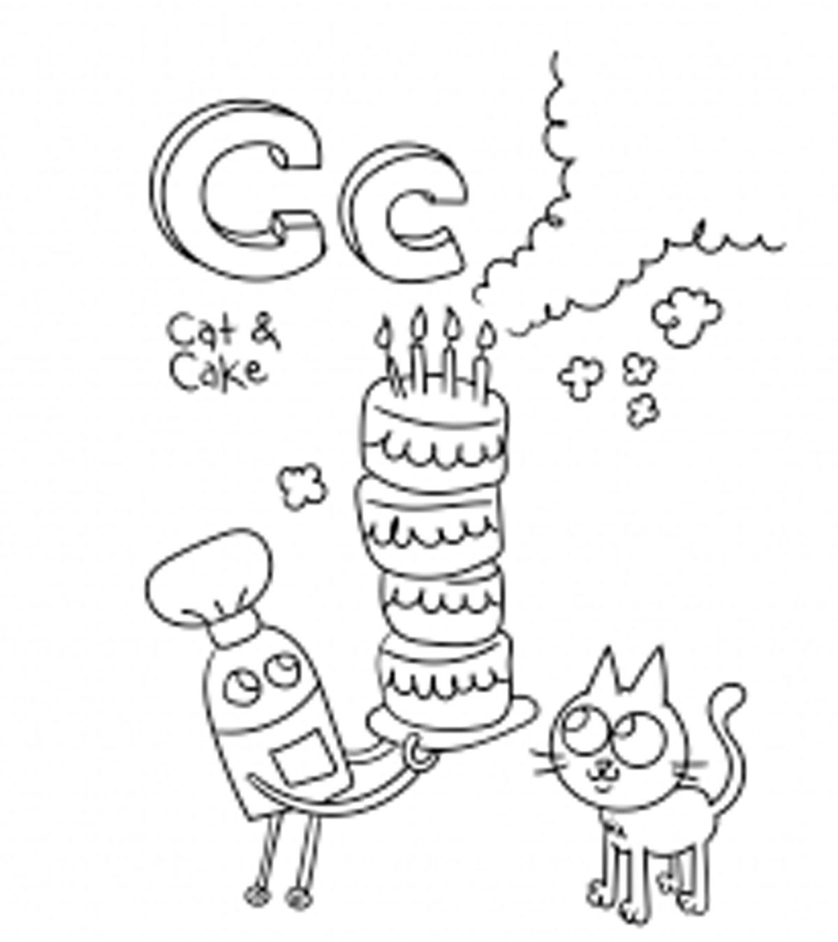 Free Printable Letter C Coloring Pages