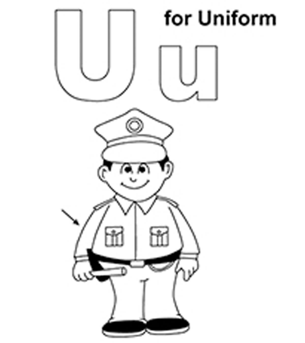Letter U Coloring Pages Free