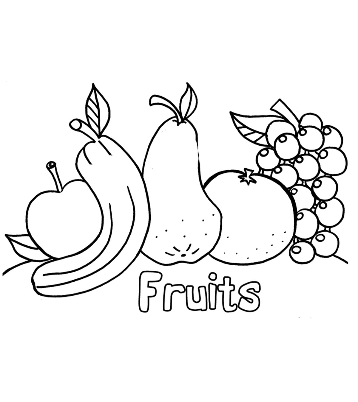 Cute Apple Tree Coloring Page - Free Printable Coloring Pages for Kids | 1350x1200