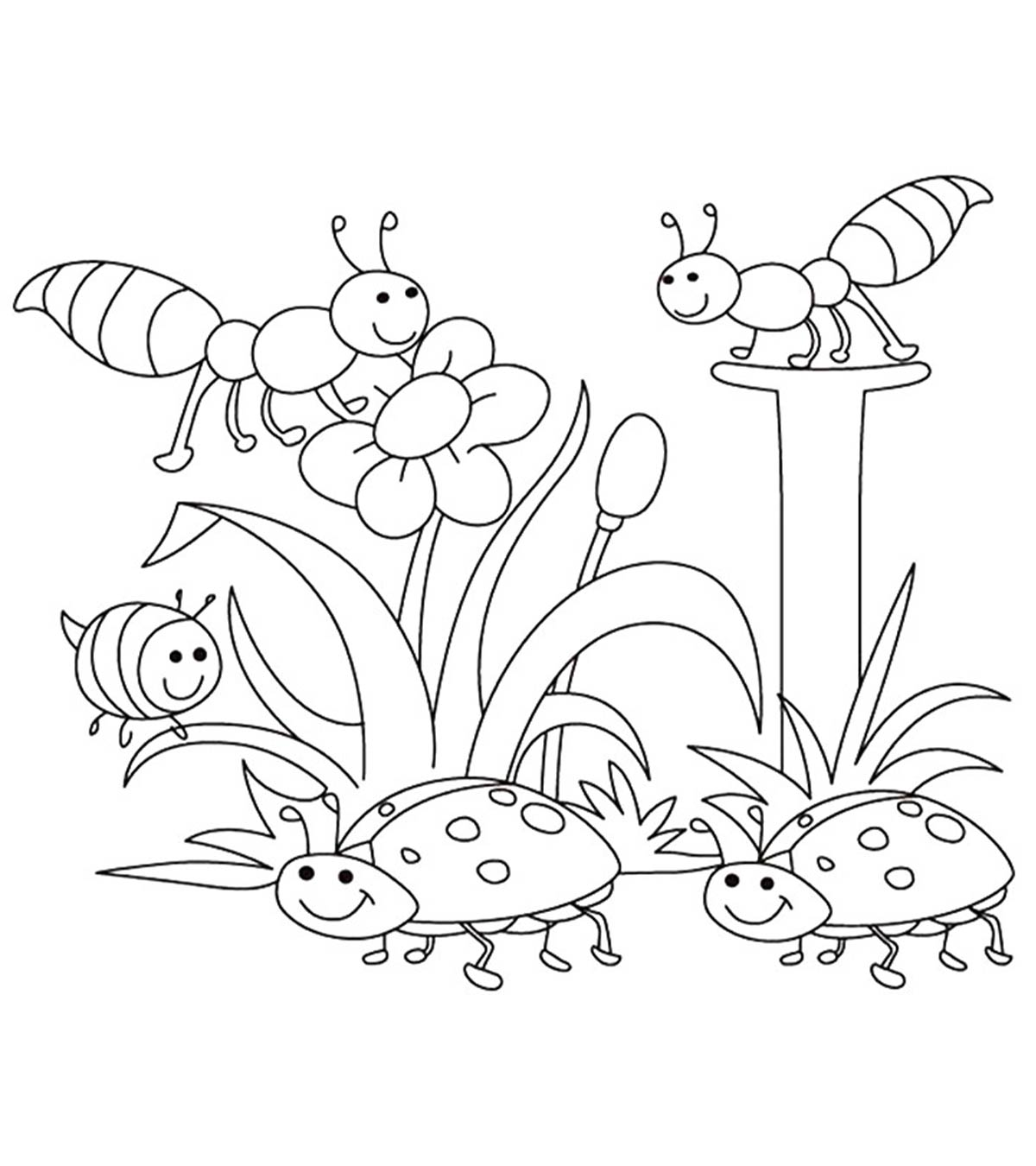 Easy Landscape Coloring Pages | Collection Images | 1350x1200