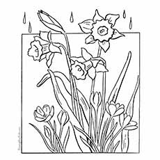Color th Picture of Spring Flower for Kids