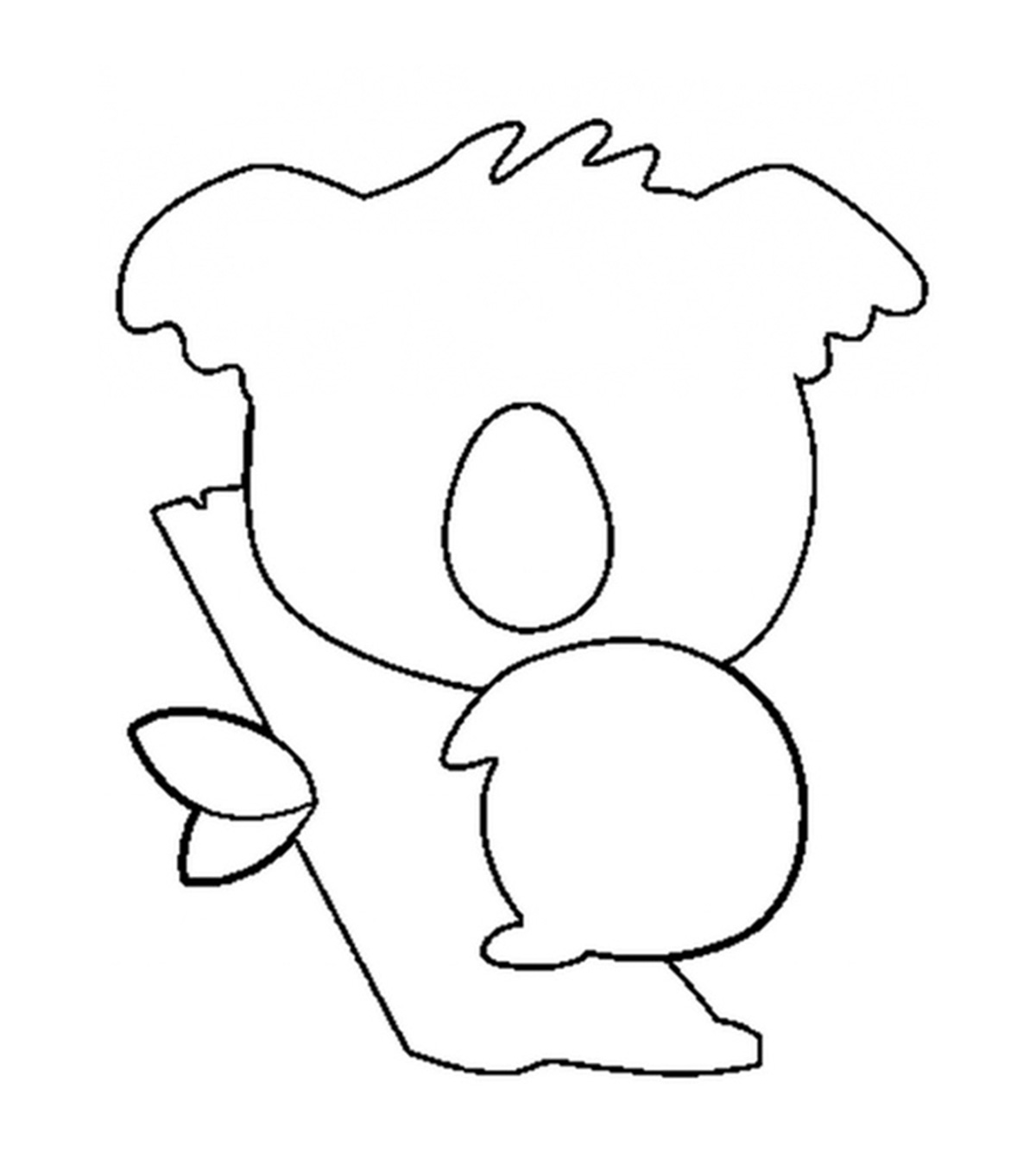 Koala Coloring Pages For Kids: Hop A Ride With a Koala! | 1350x1200