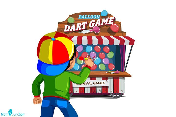 Balloon dart game