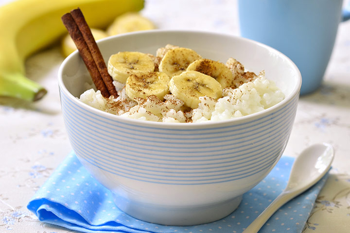 Banana and rice porridge