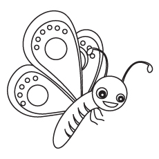 Cute-outlined-butterfly