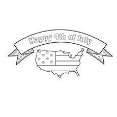 Happy 4th July Independence Day Coloring Worksheets