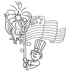 Coloring Worksheets of Independence Day 4th July