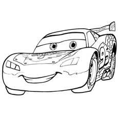 Lightning McQueen Smiling Coloring Pages