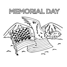 4th July is a Memorial Day for USA Coloring Page
