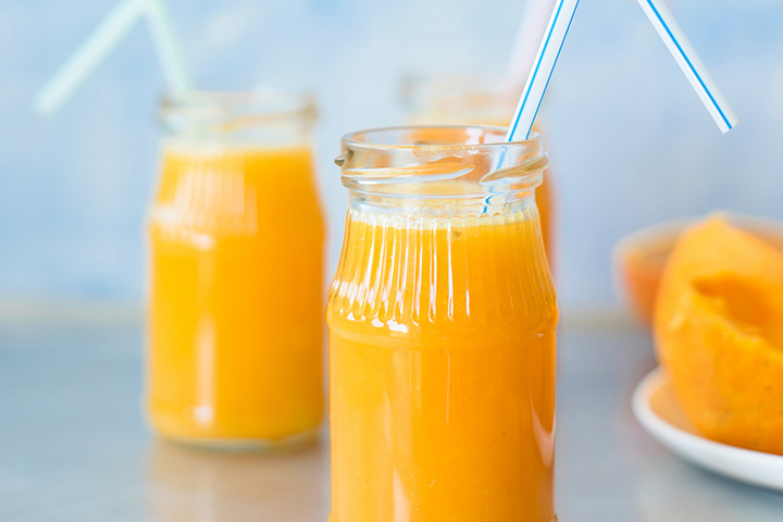 Orange baby sherbet