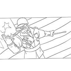 Image of Soldier on Independence Day to Color