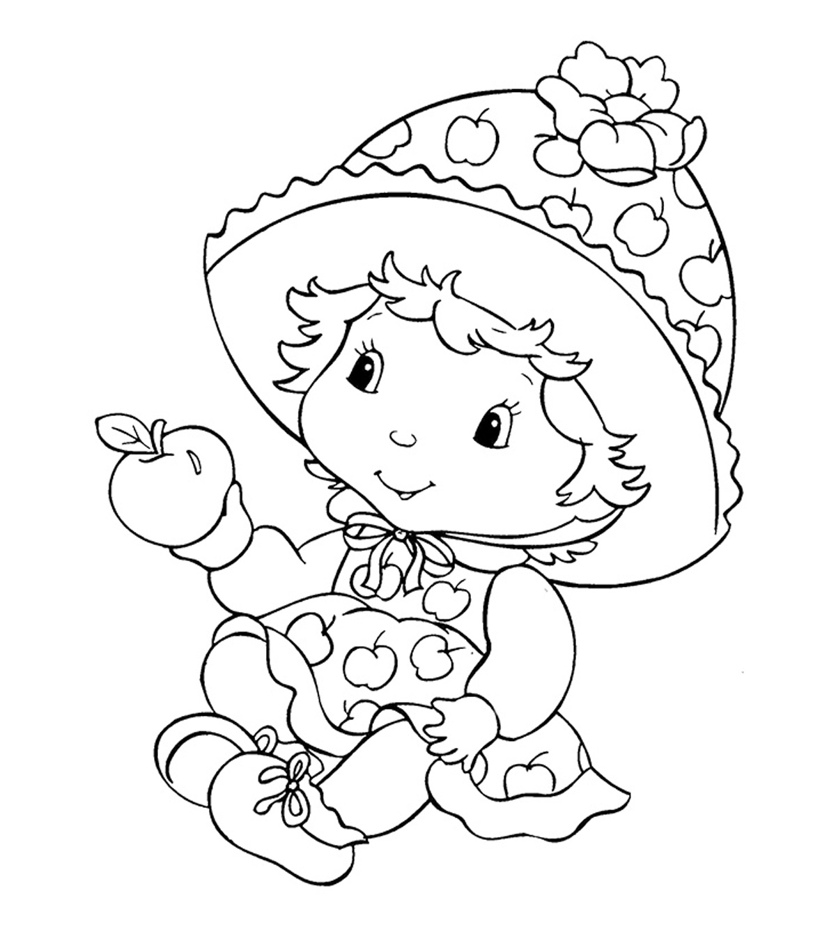 Strawberry Coloring Pages - GetColoringPages.com | 1350x1200