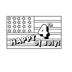 The American Flag1 coloring images