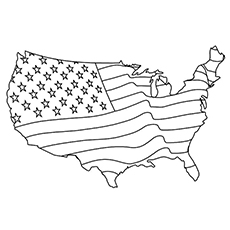 American Map to Color