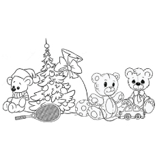 Awesome Teddy Bear Toy Collection Coloring Pages